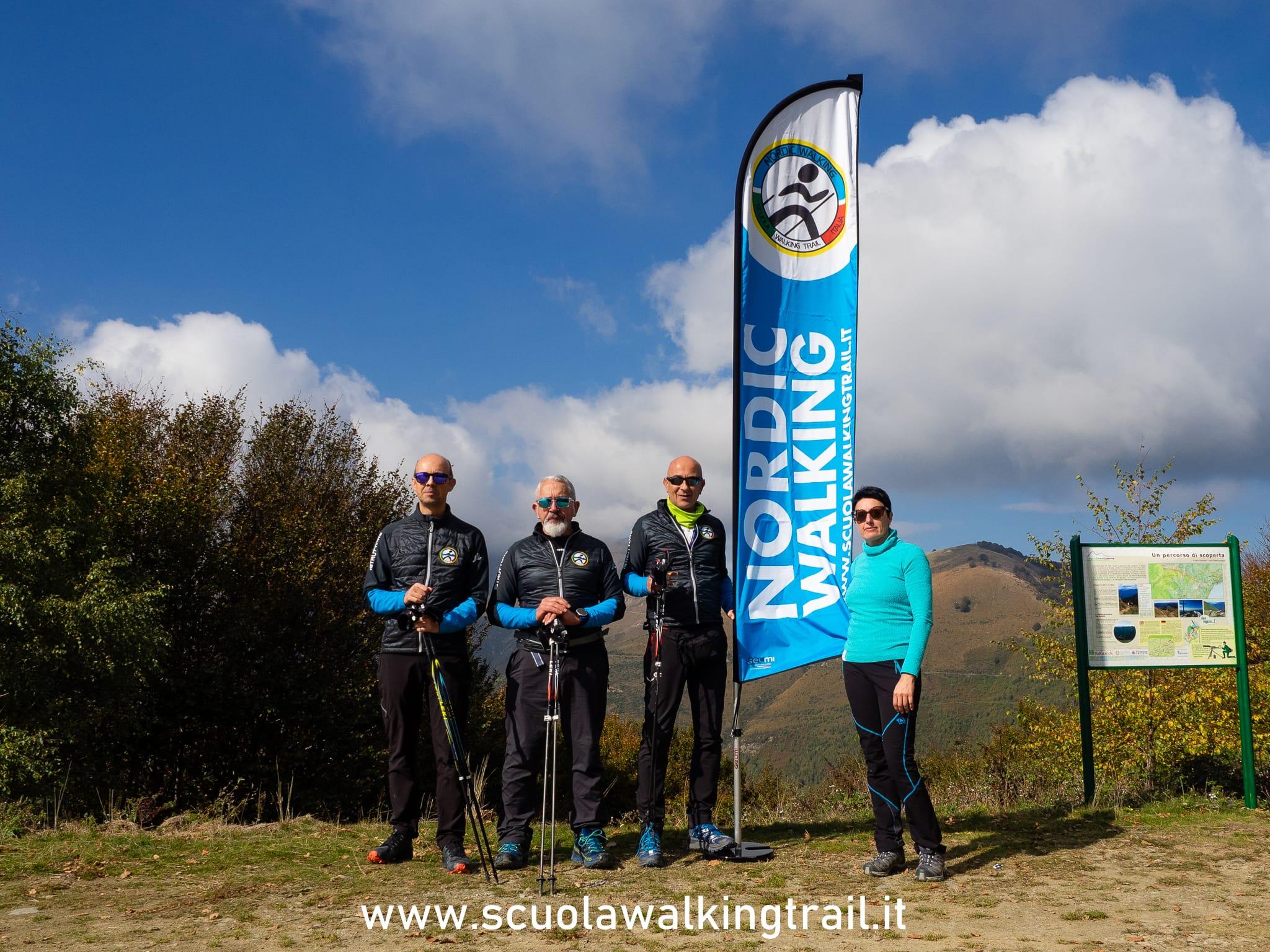 Consiglio Direttivo Scuola Walking Trail Italia: Albert Husband, Angelo Spera, Roberto Fontana, Emanuela Zecchin