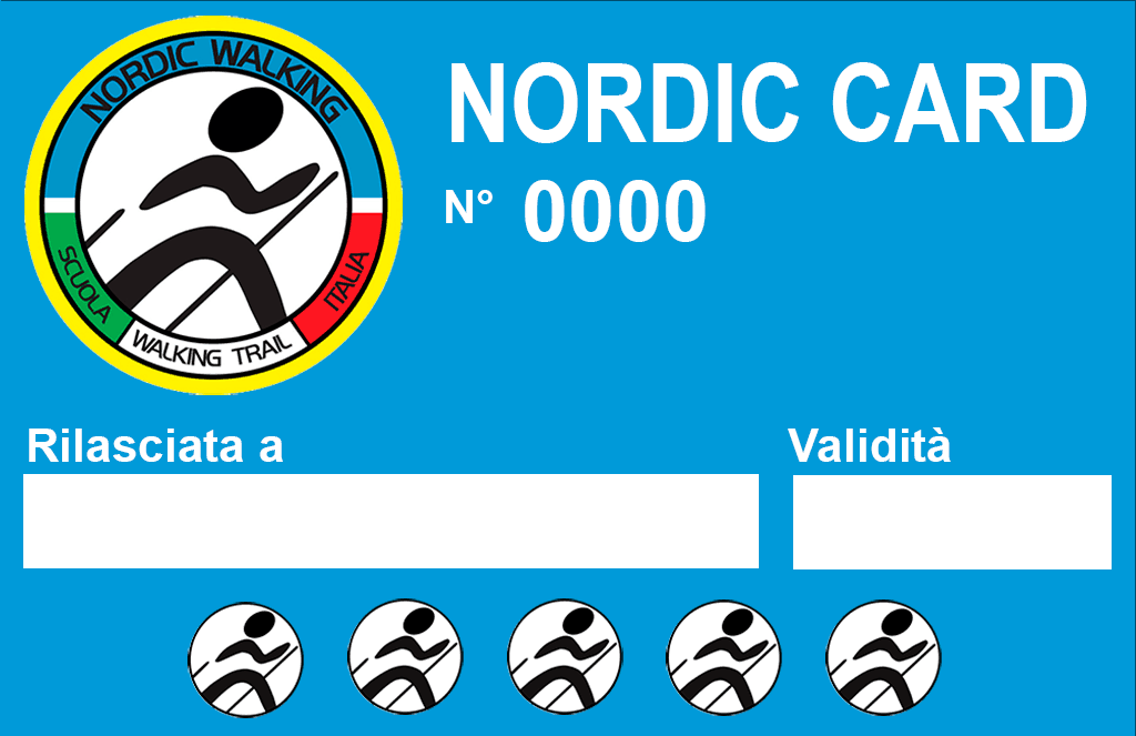 Nordic Card Scuola Walking Trail Italia